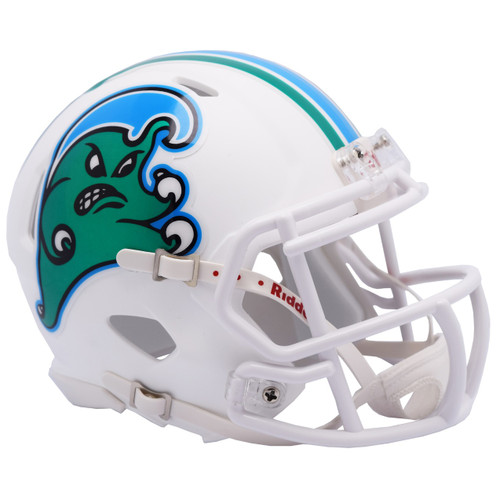 Tulane Green Wave - Angry Wave - NCAA Riddell SPEED Mini Football Helmet