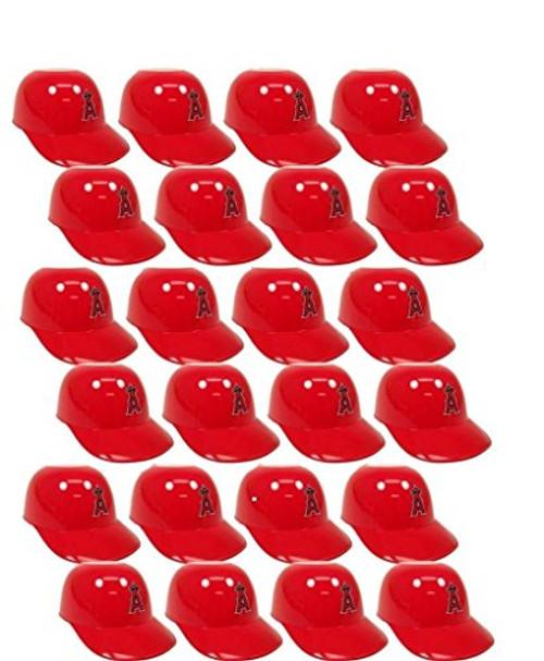 Los Angeles Angels of Anaheim MLB 8oz Snack Size / Ice Cream Mini Baseball Helmets - Quantity 24