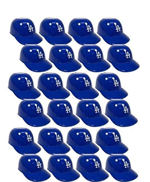 Los Angeles Dodgers MLB 8oz Snack Size / Ice Cream Mini Baseball Helmets - Quantity 24