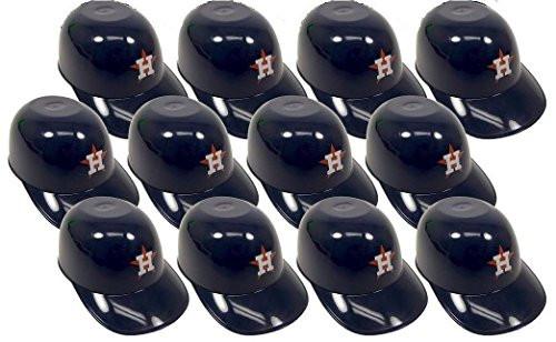 Houston Astros MLB 8oz Snack Size / Ice Cream Mini Baseball Helmets - Quantity 12