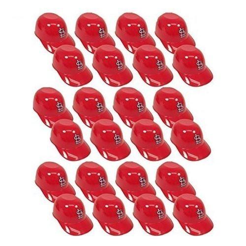 St. Louis Cardinals MLB 8oz Snack Size / Ice Cream Mini Baseball Helmets - Quantity 24
