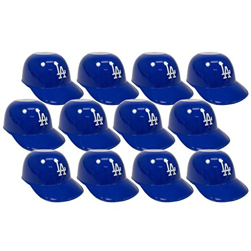 Los Angeles Dodgers MLB 8oz Snack Size / Ice Cream Mini Baseball Helmets - Quantity 12