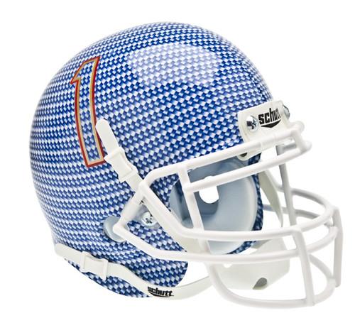 Tulsa Golden Hurricane Alternate Carbon Fiber Schutt Mini Authentic Helmet