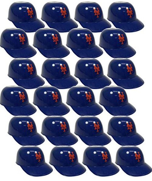 New York Mets MLB 8oz Snack Size / Ice Cream Mini Baseball Helmets - Quantity 24