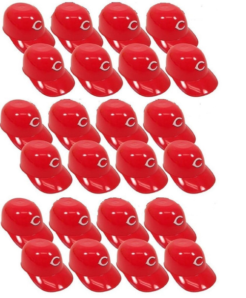 Cincinnati Reds MLB 8oz Snack Size / Ice Cream Mini Baseball Helmets - Quantity 24