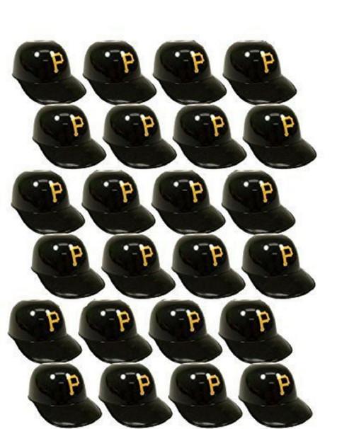 Pittsburgh Pirates MLB 8oz Snack Size / Ice Cream Mini Baseball Helmets - Quantity 24