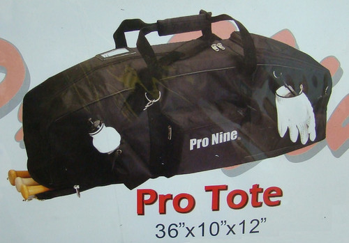 Pro Tote Baseball Softball Player Gear Bat Bag - Black