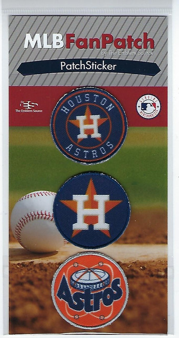 Houston Astros Collectible Fan Patch Stickers