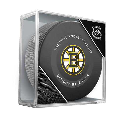 Boston Bruins Inglasco Official NHL Game Puck in Cube - New 2019-2020 Version