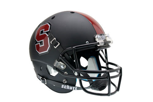 Stanford Cardinal Alternate Black Schutt Full Size Replica XP Football Helmet
