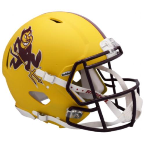 Arizona State Sun Devils Matte Yellow Sparky SPEED Riddell Full Size Replica Football Helmet