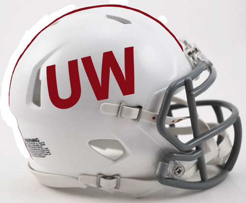 Wisconsin Badgers UW Throwback NCAA Revolution SPEED Mini Football Helmet