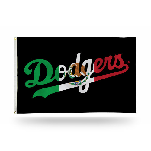 MLB Los Angeles Dodgers Mexico Flag Colors 3x5 Foot Outdoor Banner Flag