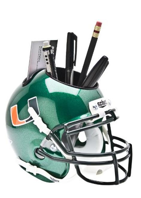 Miami Hurricanes Green Mini Helmet Desk Caddy by Schutt