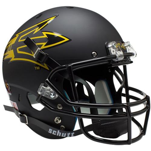 NCAA Arizona State Sun Devils Alternate Matte Black Pitchfork PT 42 Schutt Full Size Replica XP Football Helmet