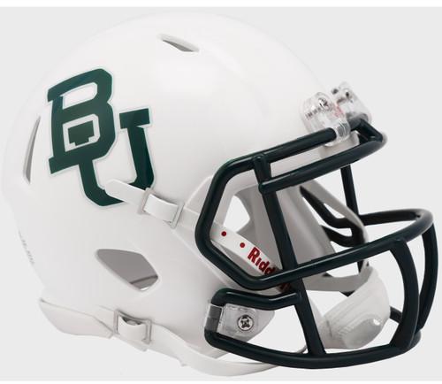Baylor Bears White Metallic NCAA Revolution SPEED Mini Football Helmet