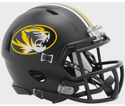 Missouri Tigers Anodized Black Revolution SPEED Mini Football Helmet