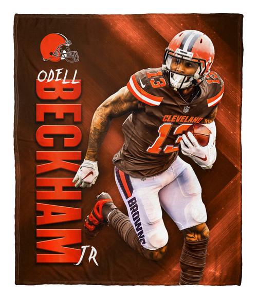 "Odell Beckham Jr. Cleveland Browns NFL Silk Touch Throw Blanket Size 50"" x 60"""