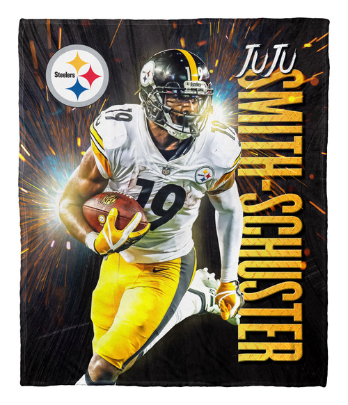 """Juju Smith-Schuster Pittsburgh Steelers NFL Silk Touch Throw Blanket Size 50"""" x 60"""""""
