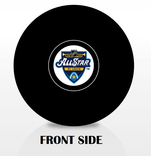 2020 NHL All-Star Game Inglasco Autograph Style Souvenir Hockey Puck - St. Louis