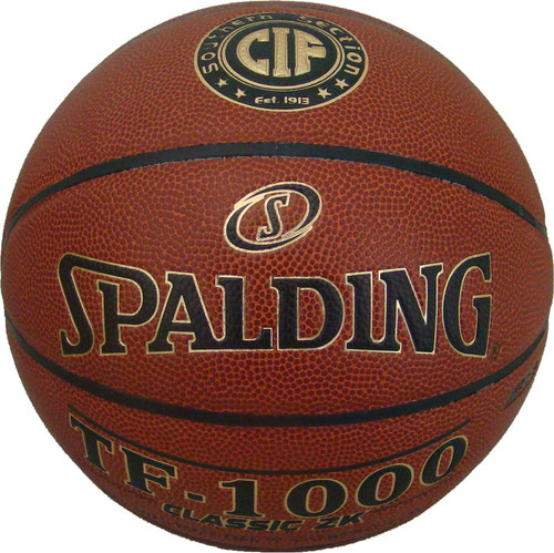 """Spalding TF-1000 Classic ZK Women's Indoor Basketball NFHS Size 6, 28.5"""" CIF Southern Section"""