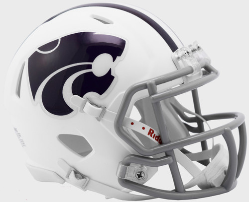 Kansas State Wildcats Alternate White NCAA Revolution SPEED Mini Football Helmet