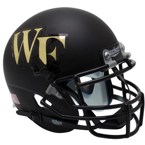 Wake Forest Demon Deacons Matte Black Schutt Mini Authentic Football Helmet