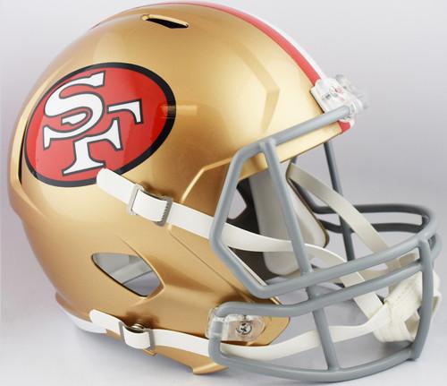 San Francisco 49ers 1964 to 1995 Tribute SPEED Replica Full Size Football Helmet