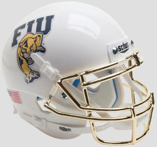 Florida International Panthers White Chrome Schutt Mini Authentic Football Helmet