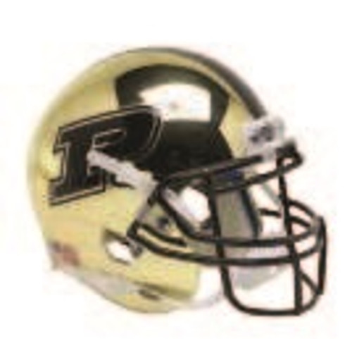 Purdue Boilermakers Alternate Gold Chrome Schutt Mini Authentic Football Helmet