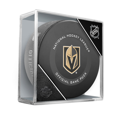 Las Vegas Golden Knights Inglasco Official NHL Game Puck in Cube - New 2019-2020 Version