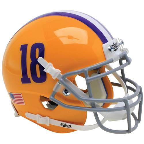 LSU Tigers Alternate #18 Schutt Mini Authentic Football Helmet