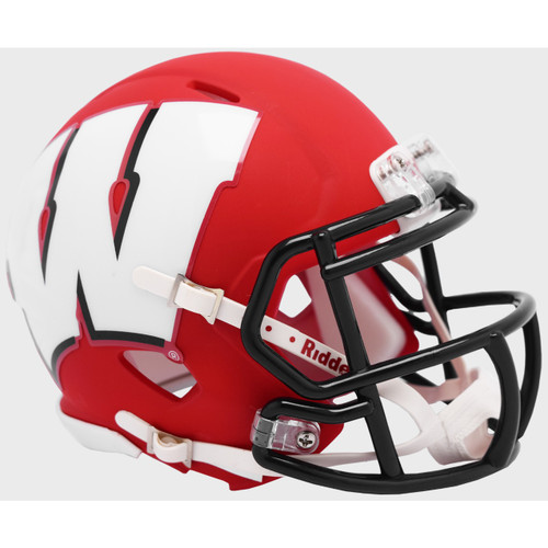 Wisconsin Badgers AMP Alternate NCAA Riddell SPEED Mini Football Helmet