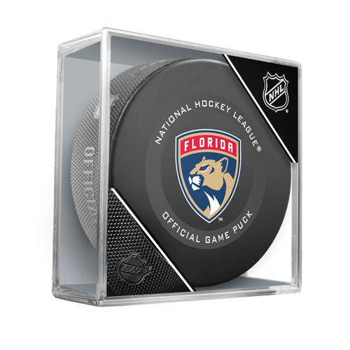 Florida Panthers Inglasco Official NHL Game Puck in Cube - New 2019-2020 Version