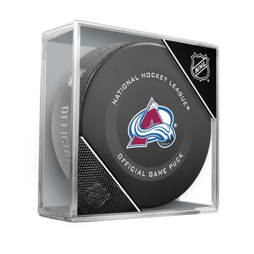 Colorado Avalanche Inglasco Official NHL Game Puck in Cube - New 2019-2020 Version