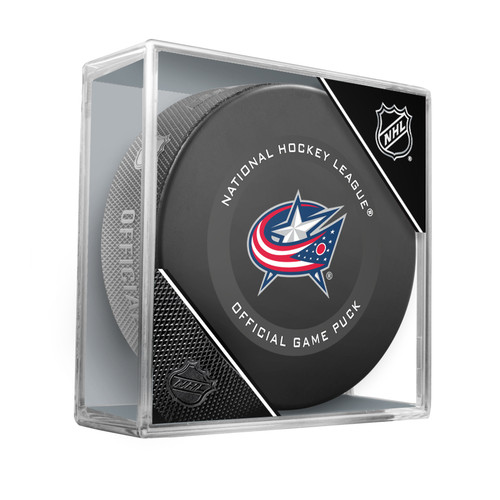 Columbus Blue Jackets Inglasco Official NHL Game Puck in Cube - New 2019-2020 Version