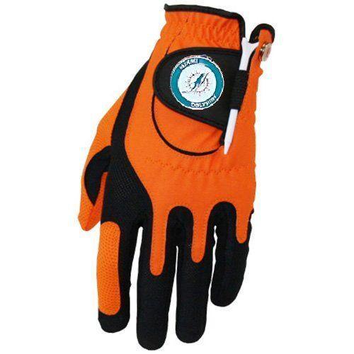 Zero Friction NFL Miami Dolphins Orange Golf Glove, Left Hand