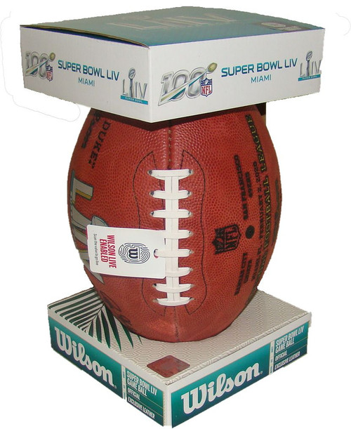 Super Bowl LIV (Fifty-Four) 54 Kansas City Chiefs vs. San Francisco 49ers Official Leather Authentic Game Football by Wilson