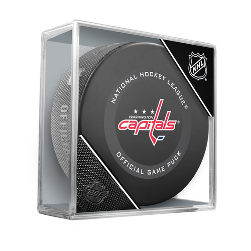 Washington Capitals Inglasco Official NHL Game Puck in Cube - New 2019-2020 Version
