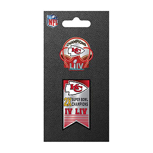 Kansas City Chiefs Super Bowl LIV 54 Champions Lapel 2-Pin Set