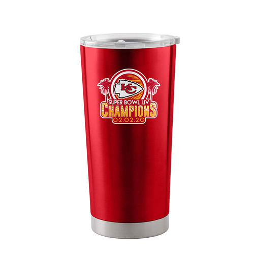 Kansas City Chiefs Super Bowl LIV Champions 20 oz. Stainless Tumbler Travel Mug