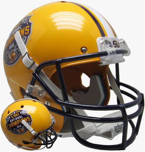 LSU Tigers Special 2019 CFP National Champions NCAA Schutt Full Size Replica XP Football Helmet