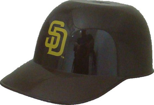 San Diego Padres MLB 8oz Snack Size / Ice Cream Mini Baseball Helmets - Quantity 6