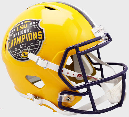 LSU Tigers College Football Playoff 2019 National Champions Revolution Replica Speed Full Size Football Helmet