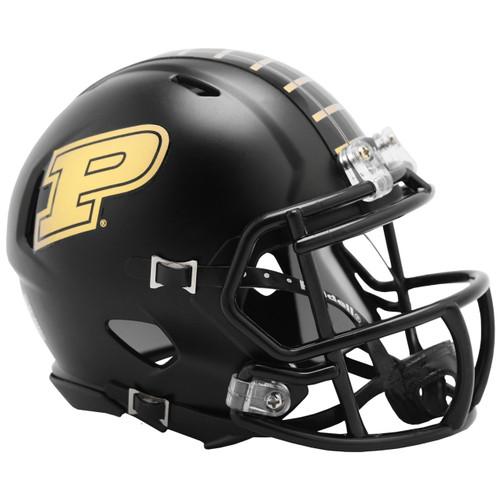 Purdue Boilermakers Anodized Black NCAA Revolution SPEED Mini Football Helmet