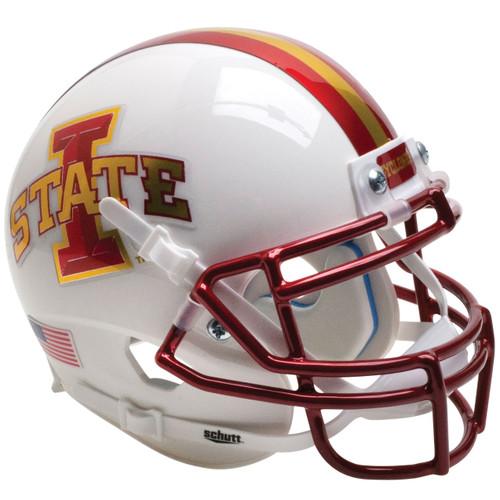 Iowa State Cyclones Chrome White Schutt Full Size Replica XP Football Helmet