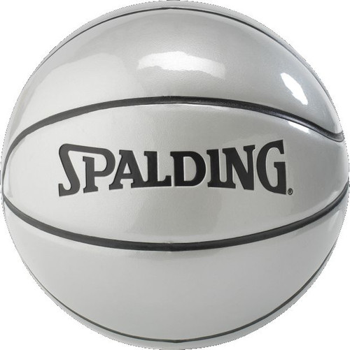 Silver Mini Size 3 Basketball (22 inch) Great for Signatures and autographs