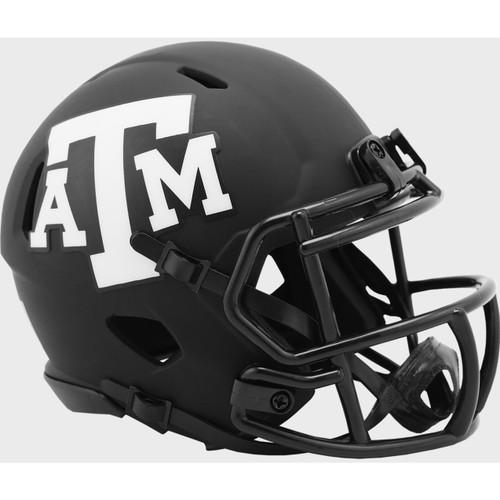 Texas A&M Aggies 2020 Black Revolution Speed Mini Football Helmet