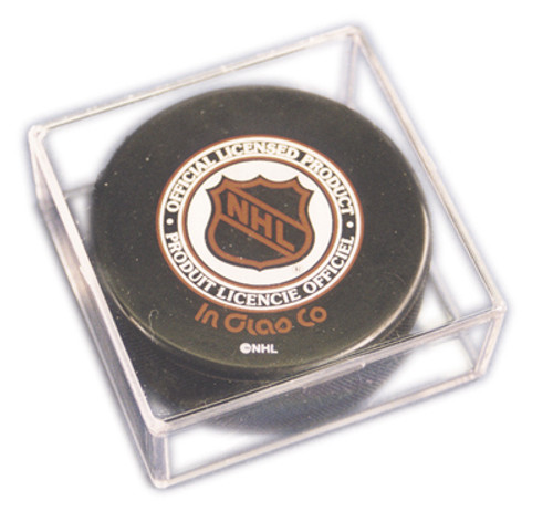 UV Protected Hockey Puck Square Cube Storage Display Case (12-pack)