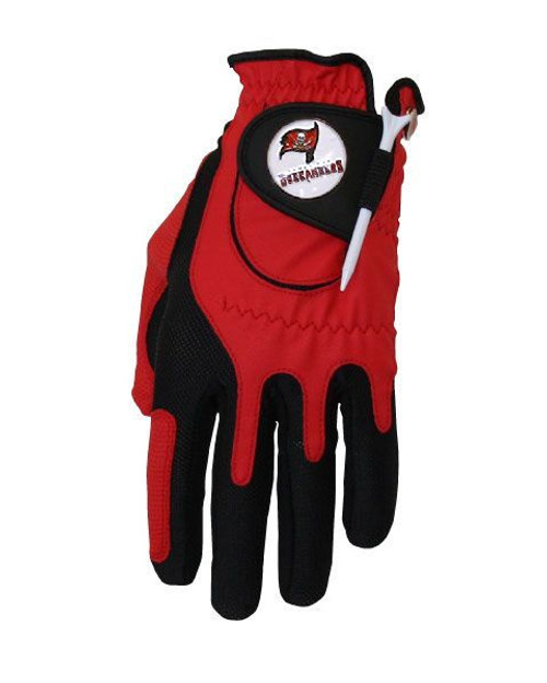Zero Friction NFL Tampa Bay Buccaneers Red Golf Glove, Left Hand